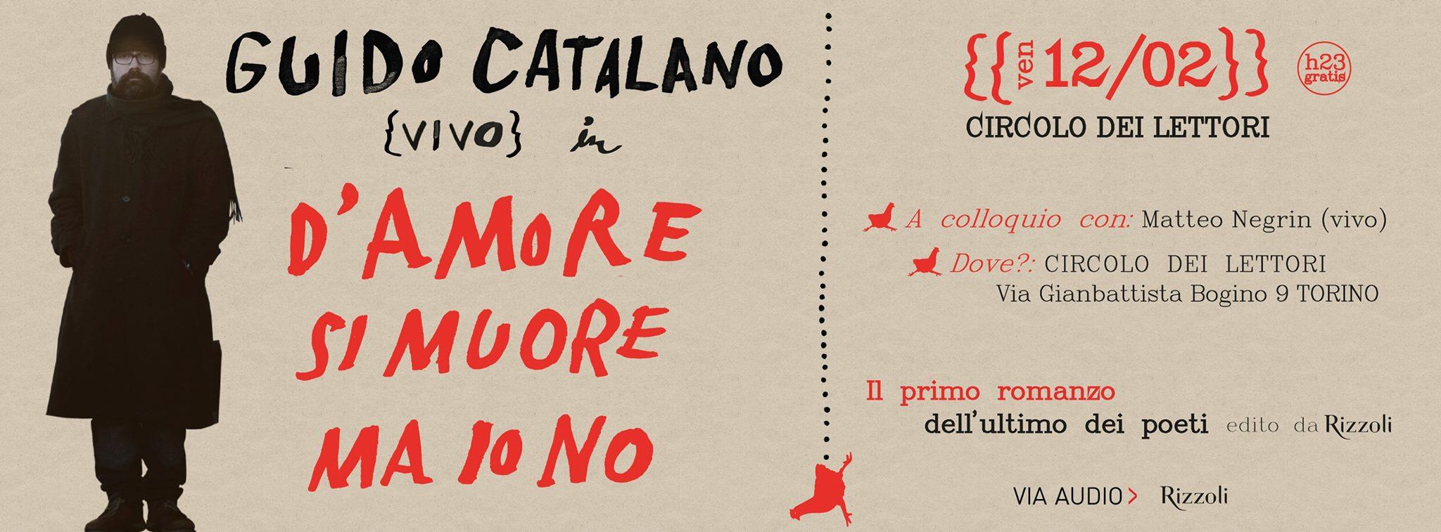 """Guido Catalano - """"D'amore si muore ma io no"""""""