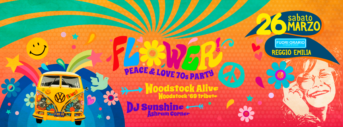 Flower 70s Party