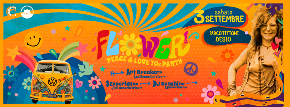 Flower 70s Party - Parco Tittoni