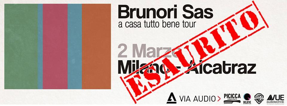 Brunori ad Alcatraz Milano