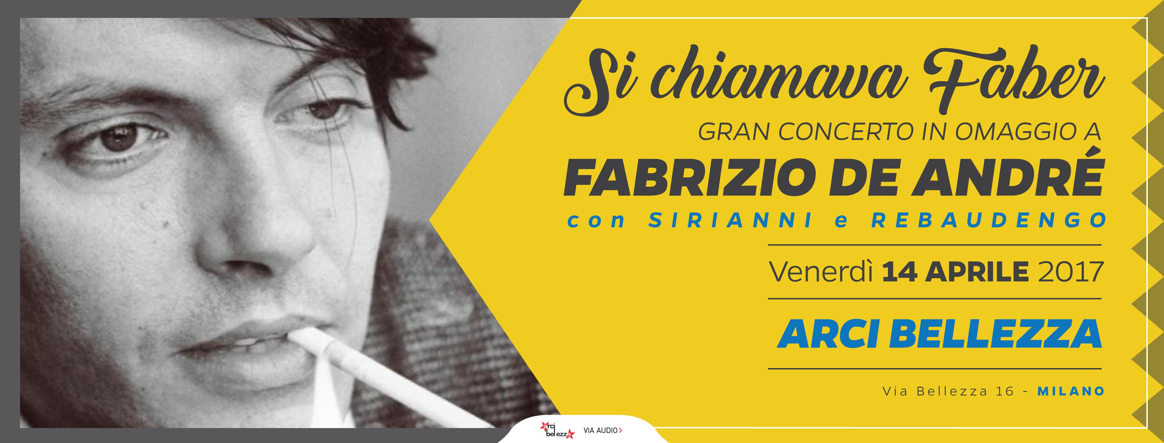 Fabrizio De Andrè ad Arci Bellezza