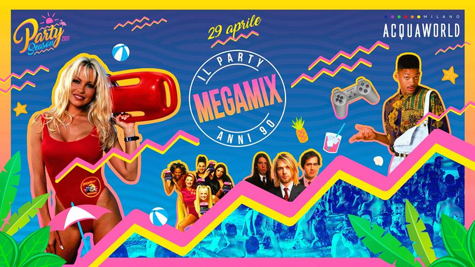 Megamix 90s Party ad Acquaworld