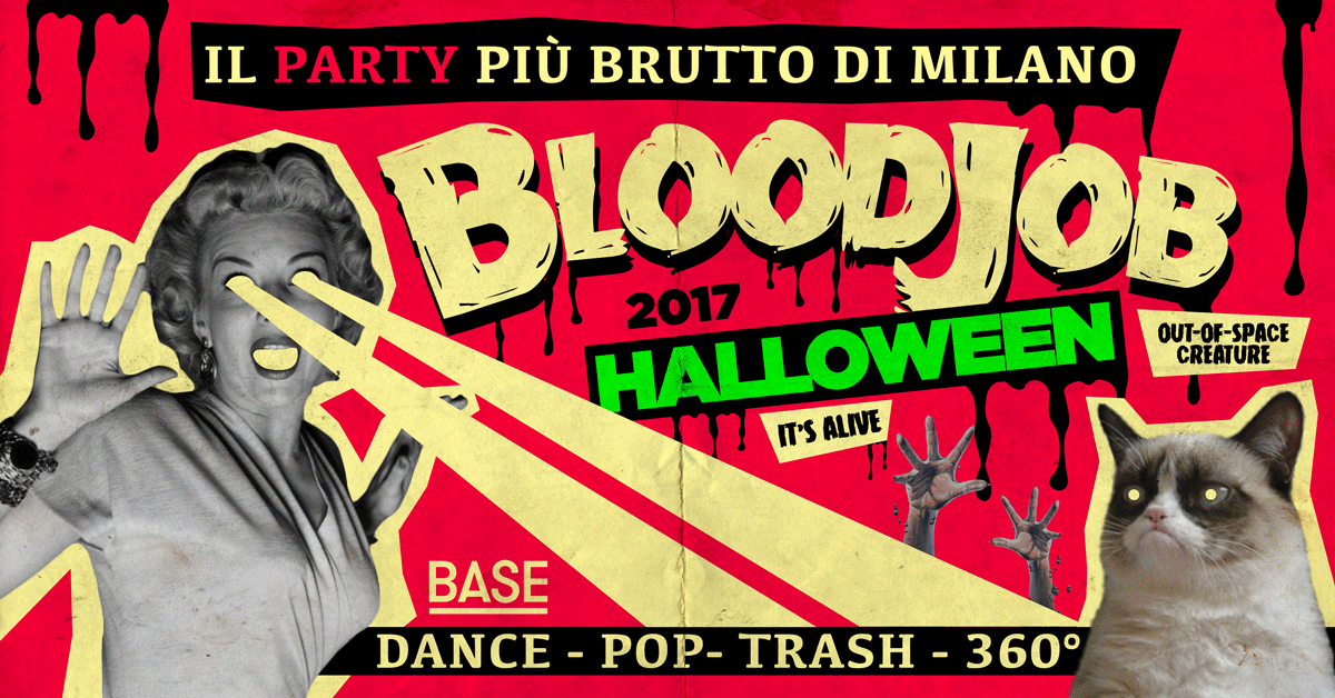 Bloodjob - Halloween 2017 at Base - Milano
