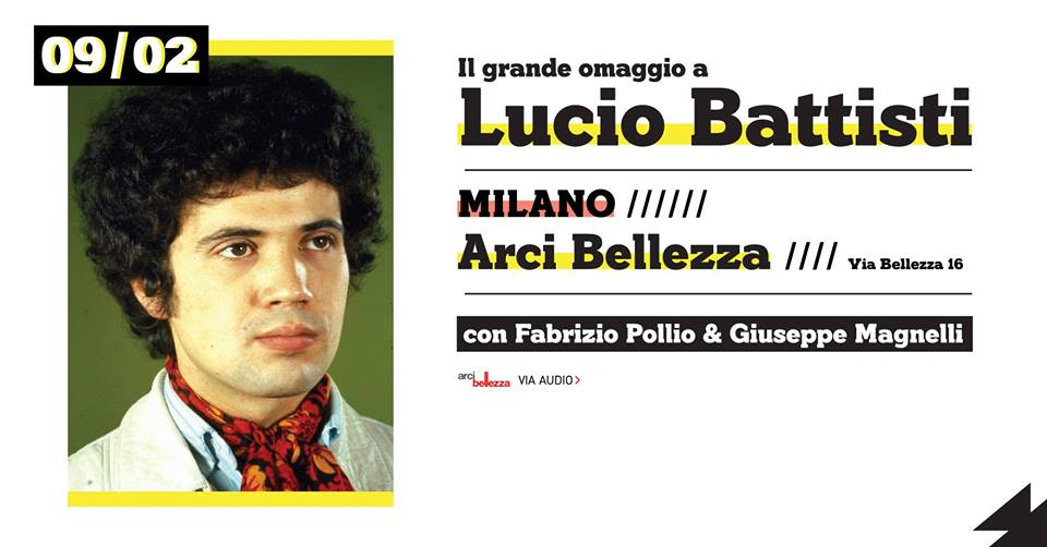 Lucio Battisti all'Arci Bellezza
